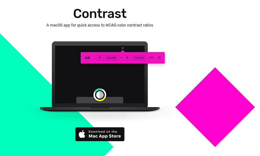 Contrast accessibility tool.
